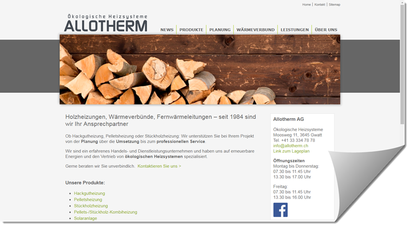 Allotherm AG Ökologische Heizsysteme Moosweg 11, 3645 Gwatt